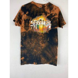 Jeep Bleached T-Shirt Camping Tie Dyed T-Shirt Unisex Medium Good Times Blue Graphic Tee Bleach Dyed Graphic T-Shirt